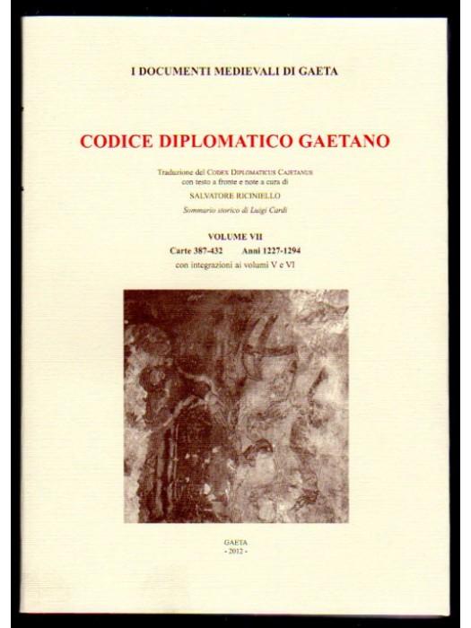 VOL VII CODICE DIPLOMATICO GAETANO