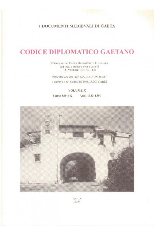 VOL X Codice Diplomatico Gaetano